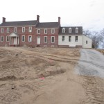 Landside lawn cleared, leveled before drives were put in 2008.