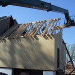 Framing walls and roof, frame addition.