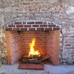 Testing the draw of new fireplaces 2004.