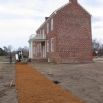 Pea gravel paths  laid on river lawn 2008.