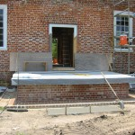 River side porch foundations laid 2004.