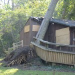 Damage to River House from Isabel 2003.