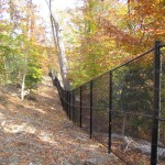 New perimeter security fence.