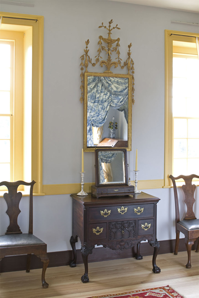 Mount pleasant plantation dining room chamber for Dressing a dining room table