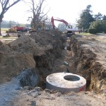 Major drainage issues on landside lawn addressed 2008.
