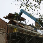Removing the old roof.