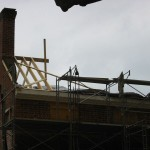 Roof being reconstructed.