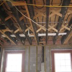 Old joists with added sister joists 2005.