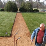 pea gravel paths aligned according to research