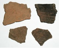 Pottery Fragments found at Mount Pleasant.